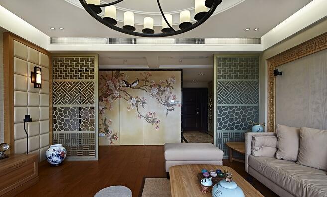 中海城南一号中式风格装修设计效果图