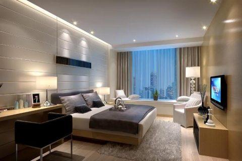 礼顿山一号现代风格装修设计效果图-三居室改套房