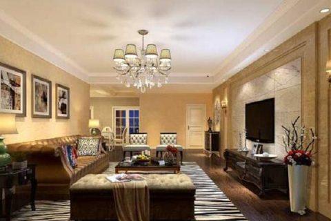 龙湖铜雀台混搭装修设计效果图-欧式现代风格-三居室装修