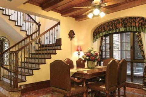 龙湖长桥郡别墅美式风格装修设计效果图