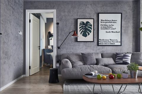瑞安城中汇二居室工业风格装修设计效果图