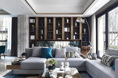 居家空间颜值与实用并存之柜式背景墙